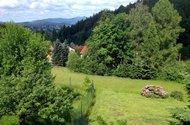 výhled z okna na Ještěd