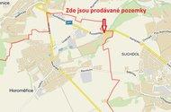 Horoměřice - mapa