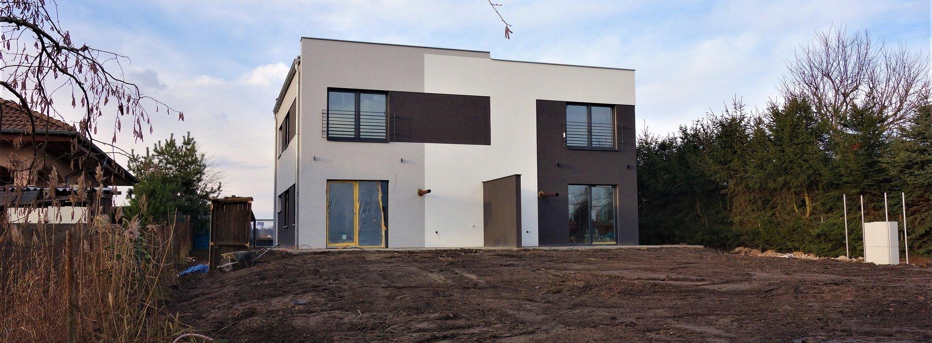 Novostavba cihlového dvojdomu v Lázních Bohdanči, 385 m2, Ev.č.: N48230