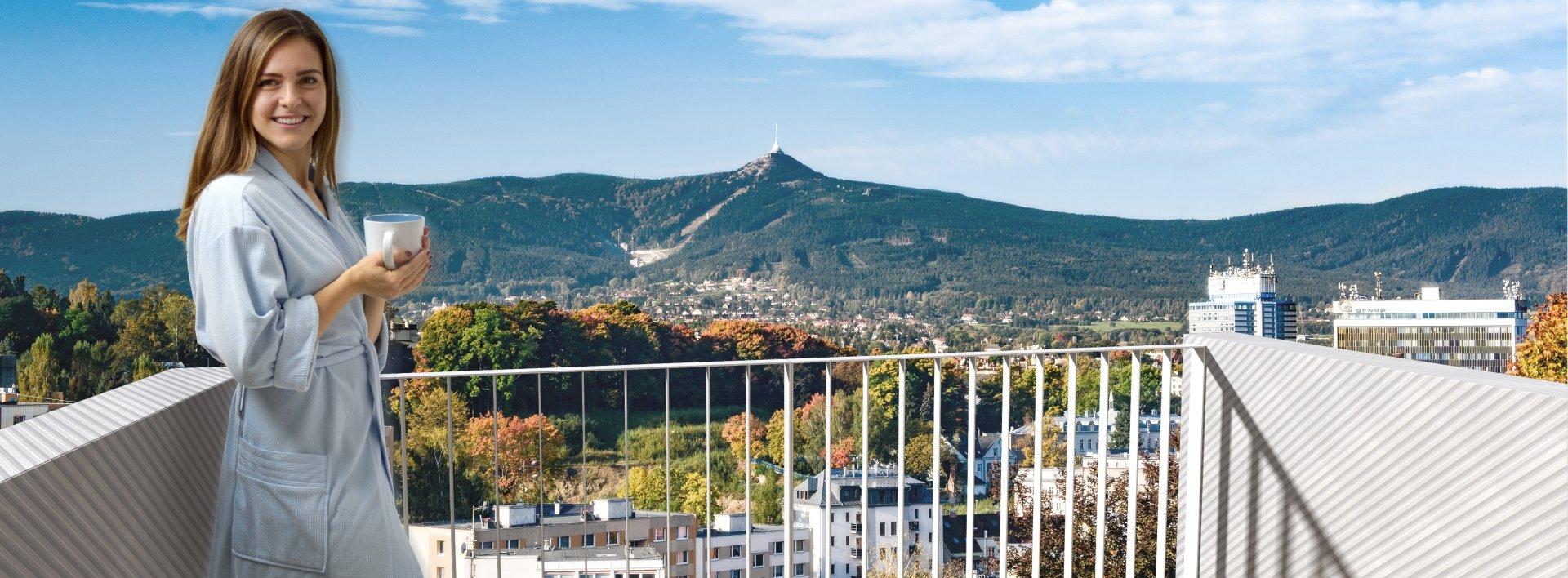 Jižní byt 2+kk v centru Liberce s krásným výhledem, Ev.č.: N48421