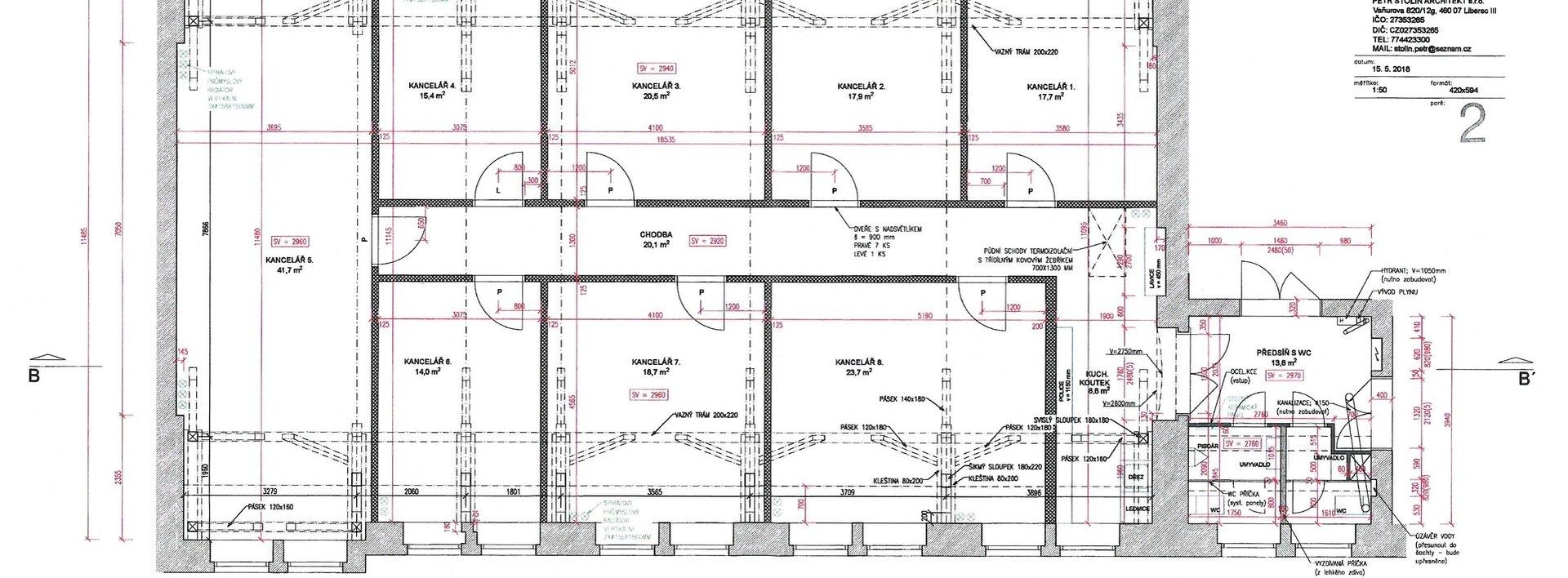 Pronájem nových reprezentativních kancelářských prostor, 17 - 35 m², Ev.č.: N48482