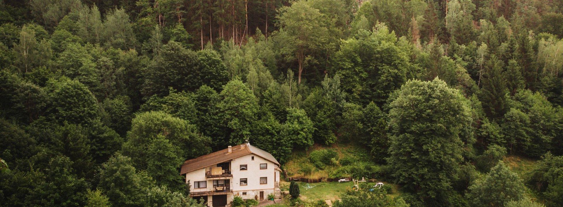 Rodinný dům se 2 byty uprostřed vlastních lesů a luk, Ev.č.: N48825