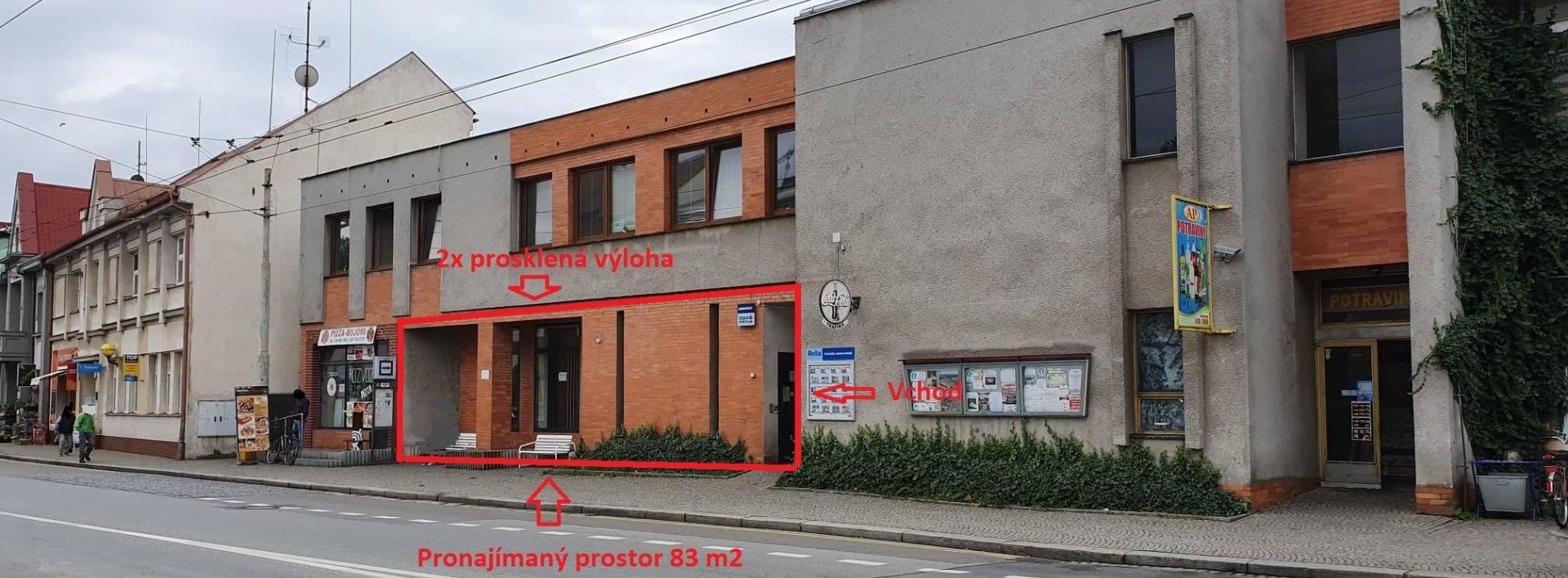 Pronájem obchodního prostoru v centru města, 83 m² - Lázně Bohdaneč, Ev.č.: N48893