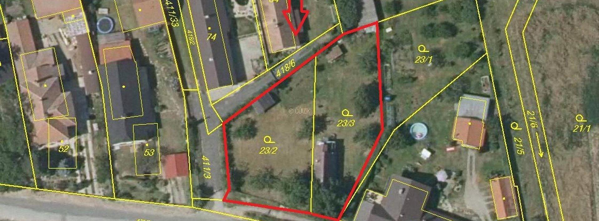 Stavební pozemky v Křičeni, 1200 m², Ev.č.: N48920