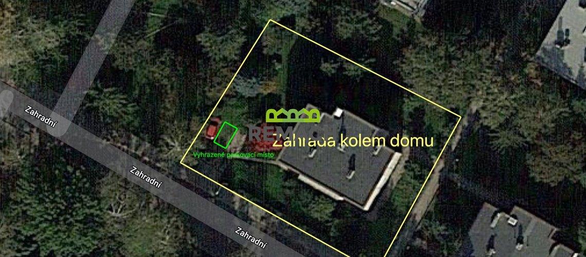 1079 Zahradní - zahrada + parkovací místo