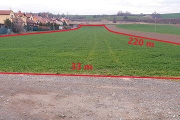 Prodej pozemků k výstavbě RD 7645 m² - Hostěrádky-Rešov