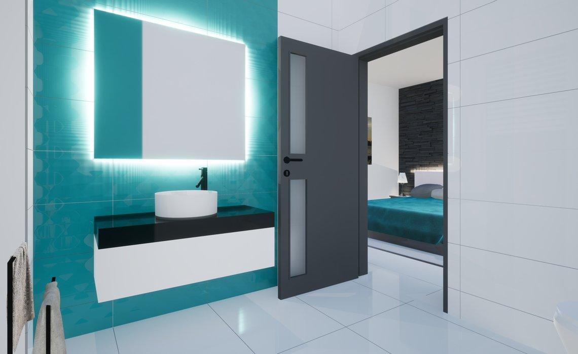 Koupelna u ložnice