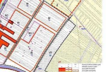 Prodej, pozemek 850 m², Veselí nad Moravou, Veselí-Předměstí