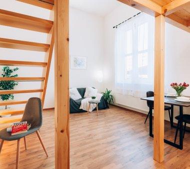 Prodej moderního loftového bytu 1+kk, 55m² - V centru Veselí nad Moravou