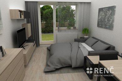 Pronájem bytu 1+kk v objektu PAMIR po kompletní rekonstrukci ve Zbýšově u Brna, Ev.č.: 00460