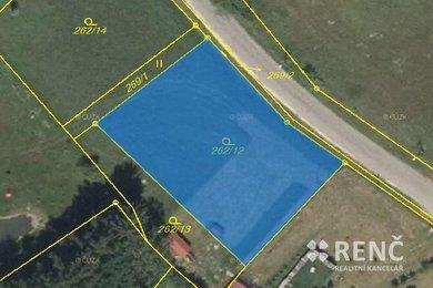 Prodej výjimečného stavebního pozemku v Nemojanech o velikosti 1398 m2 v blízkosti Nemojanského mlýna, Ev.č.: 00533