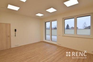 Pronájem 3 kanceláří v novostavbě polyfunkčního domu Brno - Maloměřice, Ev.č.: 00725