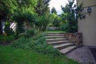 elevated garden area
