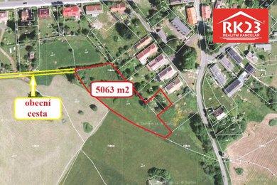 Prodej, Pozemky pro bydlení, 5063m² - Zádub-Závišín, Ev.č.: 01228
