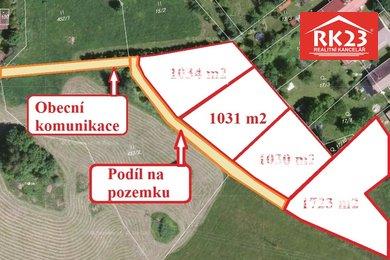 Prodej, Pozemky pro bydlení, 1031m² - Zádub-Závišín, Ev.č.: 01347