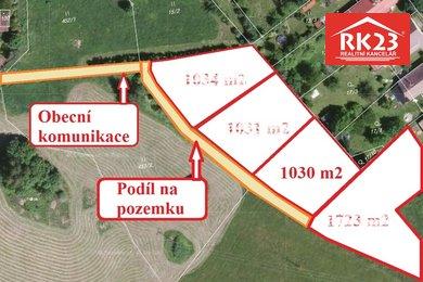 Prodej, Pozemky pro bydlení, 1030m² - Zádub-Závišín, Ev.č.: 01380