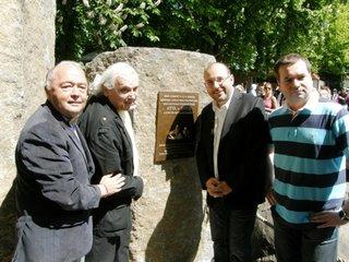 Unveiling the memorial plaque of Vlasta Burian