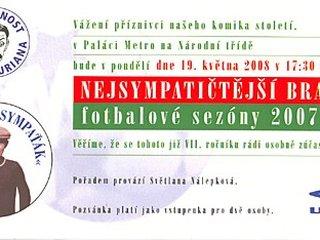 Odhalení pamětní desky Vlasty Buriana na stadionu FK Viktorie Žižkov