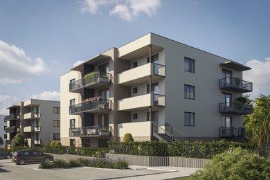 Prodej novostavby 1+kk s balkónem, 28,6 m2, v Milovicích, Ev.č.: 2020103B