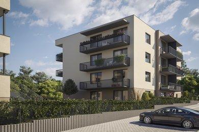 Prodej nového bytu 1+kk (36 m2) se zahrádkou 114 m2, Milovice, Ev.č.: 2020102B
