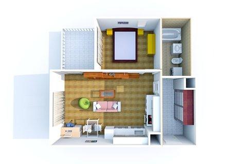 Plánek bytu C 2.405