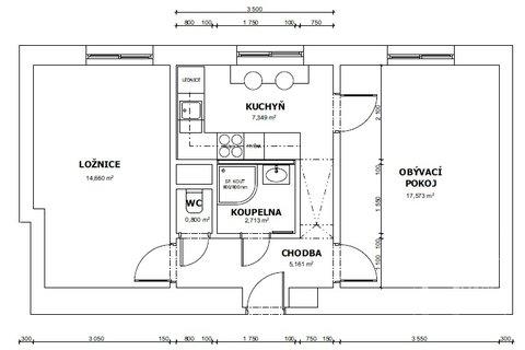 Plánek bytu Plojharova