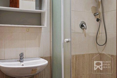 Koupelna se sprchovým koutem a přípravou na pračku