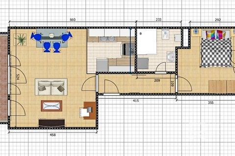 Plánek bytu - kóty