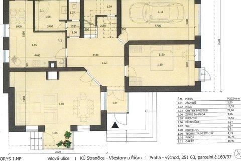 Plánek domu - přízemí
