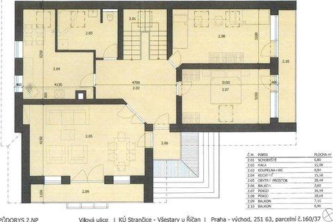 Plánek domu - 1.patro