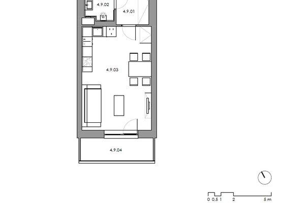 Pronájem bytu 1+kk Na Výsluní v Boskovicích