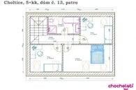 5+kk_dům č.13 půdorys patro