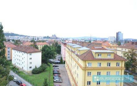 Prodej bytu 3+1 s úžasným výhledem na město, perfektní lokalita, UP 66 m2 + 3 m2 spíž , Brno – Štýřice, Ev.č.: 29554
