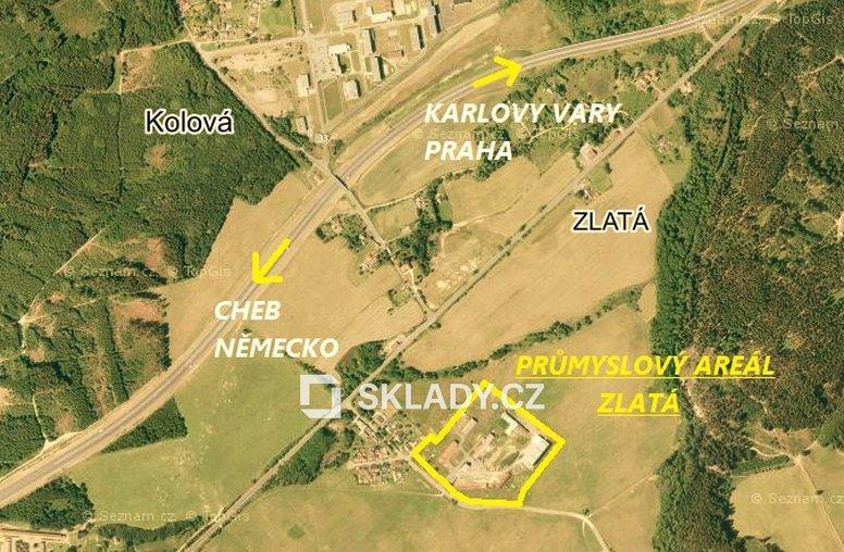 Mapka 2 - průmyslový areál Zlatá