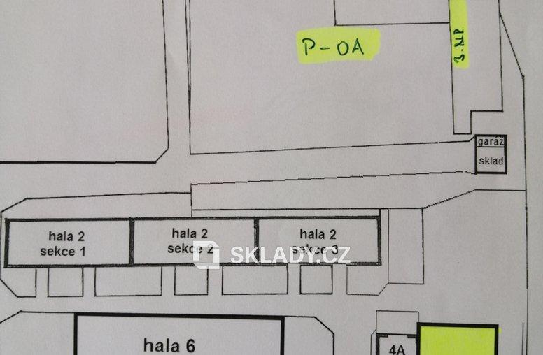 Umístění skladu v areálu SD