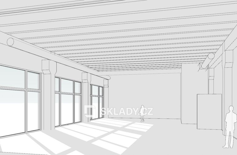 Průmyslová interier showroom