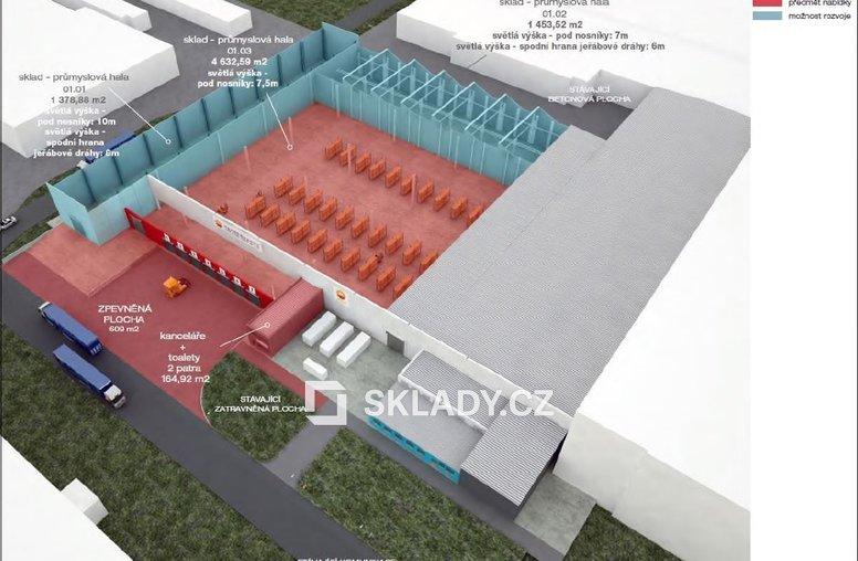 Vizualizace - skladové haly 1400m2