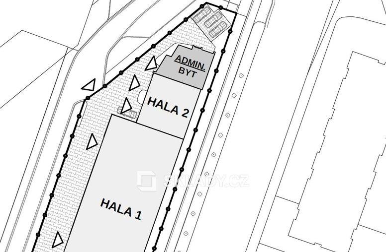 Hala 700 m2 - layout