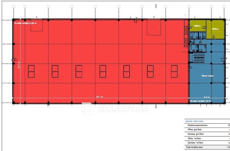 Layout - Vestec 977 m2 + 403 m2