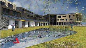 Prodej rozestavěného objektu hotelu , možná změna na dům následné péče, seniorský dům či jiné využití, celková plocha 4319 m²,zastavěná plocha 1301m² - Sněžné