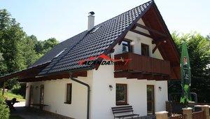 Prodáme vybavenou novostavbu chalupy zastavěná plocha 107 m2, pozemek 2384 m2,  v podhůří Orlických hor, Mladkov - Petrovičky