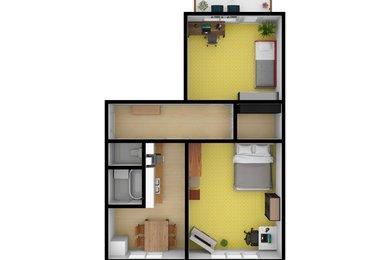 Pronájem, Byty 2+1, 60m² - Hrušovany u Brna, Ev.č.: 00411