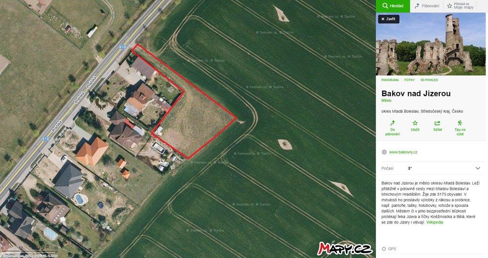 Prodej stavebního pozemku, 1675 m², Bakov nad Jizerou