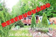 Rychnov na Moravě, pozemek 661 m2, mobilheim 32 m2, možnost výstavby - chata
