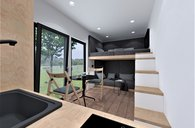 Chata 17 m2, dispozice 1+kk, nová, rozvody, sanita, dodání do 4 týdnů - chata