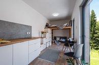 Chata 41 m2, dispozice 2+kk, nová, rozvody, sanita, dodání do 4 týdnů - chata