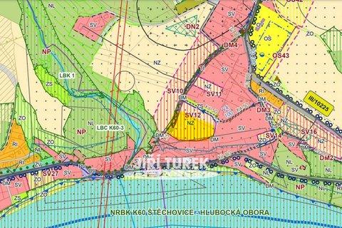 koordinační výkres detail SV12 - pozemky k prodeji