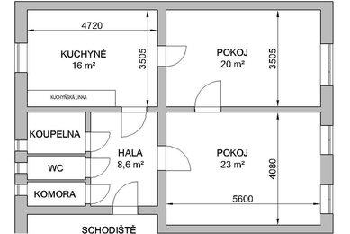Prodej bytu 2+1 v OV, Purkyňova, Brno, 67 m²