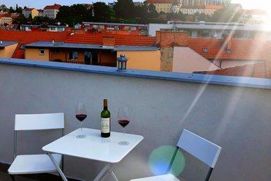 Pronájem bytu 2+kk s terasou, Brno - Staré Brno