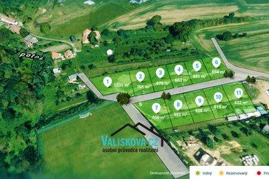 Prodej, stavební pozemky , 1235 m² - Kroměříž, Ev.č.: 00704